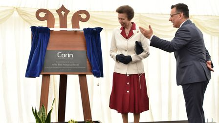 HRH Princess Royal at the opening of the Corin Group's new HQ and orthopaedic implant manufacturing