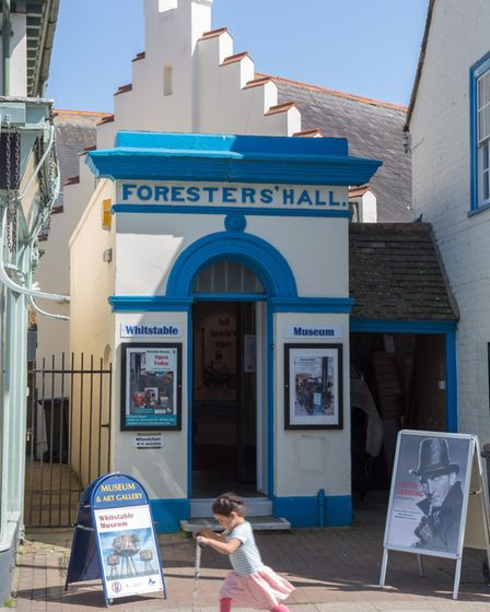 Whitstable Museum has displays showing the history of the local oyster trade started by the Romans (