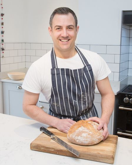 Matt in his kitchen at home in Hale (c) Slice of Pie Photography
