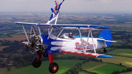 Andrea will complete a Wing Walk to raise much needed funds for MND