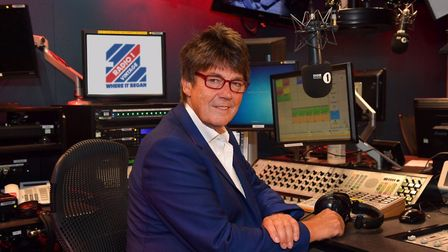 Mike Read at the mixing desk