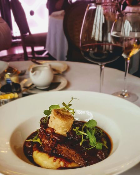 Seven hour faux fillet with bourgignon sauce at Ye Olde Bell Hotel & Spa