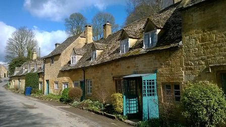 A pretty row of cottages at Snowshill