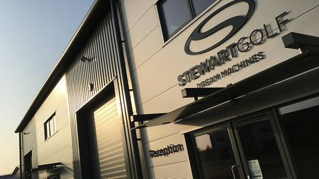 """""""The record quarter also highlighted the increased output that the new Stewart Golf headquarters can"""