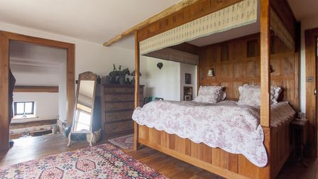 It took Adrian Mustoe less than three weeks to make this magnificent four-poster bed out of oak and