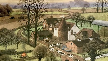 Ronald Lampitt lived most of his life in Kent and painted many beautiful and evocative scenes of cou