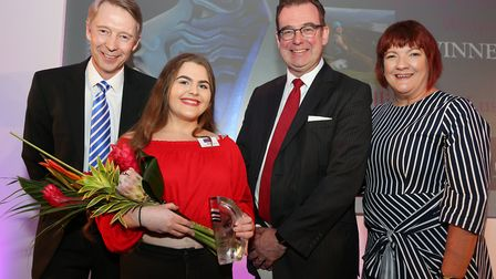 The Inspiring Young Woman Award 2018 Winner was Hallie-Codie Lusty. Photographed here is Andy Crane