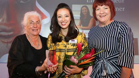 The winner of the Entrepreneur Award was Jennifer Bailey. Photographed here is award presenter Marga