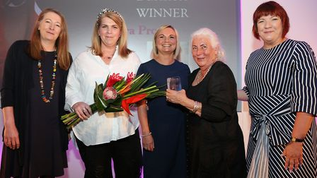 The Winner of The Business Award was Sara Prowse. Photographed here is Heather Crosby (award sponsor