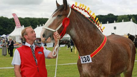 John Whittaker with 'Knutsford Eclipse' at the Nantwich Show