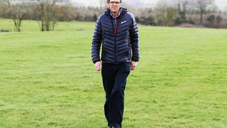 Tony Richardson, the new chair of the Gloucestershire wildlife Trust at Greystones Nature Reserve