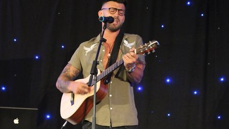 Jake Quickenden performs at the Francis House Ladies Lunch 2018