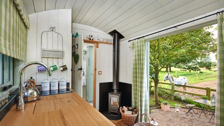 The huts are fully equipped with a wood burner