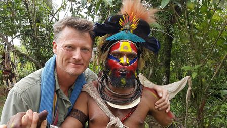 Benedict with Howard, a friend from the Hewa people of Papua New Guinea