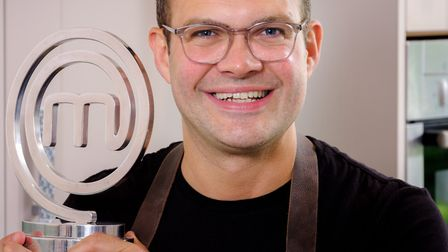 Kenny Tutt MasterChef winner with his trophy (Photo by Jim Holden)