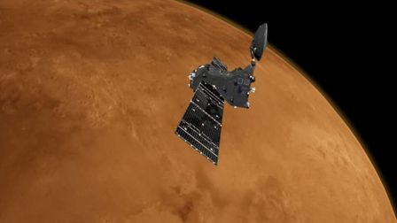 The Trace Gas Orbiter will relay data collected by the ExoMars rover back to Earth from its orbit ar