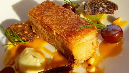 Crispy pork belly @ Pier Eight, The Lowry