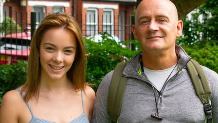 Sarah Louise Hughes with director Michael Strassen