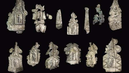 The silver plaques in the hoard (photo: The Trustees of the British Museum)