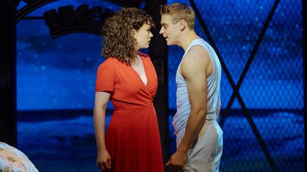 An Officer and a Gentleman the Musical: Emma Williams as Paula Pokrifki and Johnny Fines as Zack May