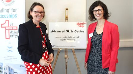 Principal Di Batchelor and Layla Moran MP opening the new Higher Education Advanced Skills Centre in