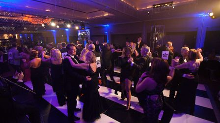 Guests take part in a Strictly Dancing competition