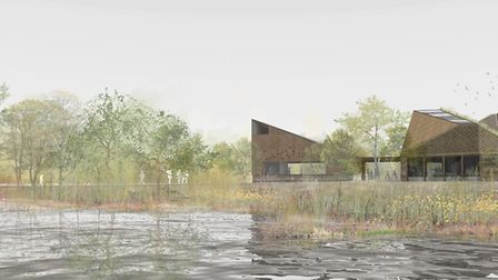 An artist's impression of the proposed new visitor centre at Sevenoaks Wildlife Reserve