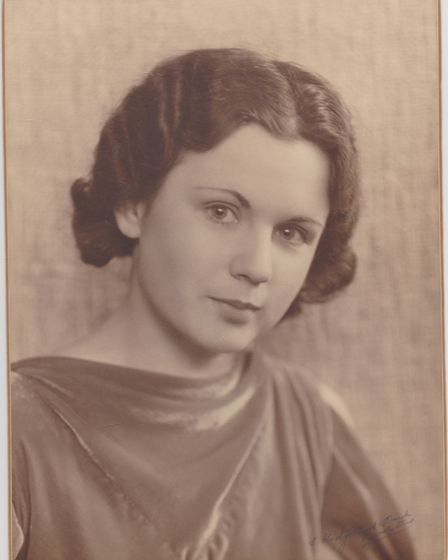 Ann Brookfield (Golding) c. 1938/39, pictured around the time that she met William Golding © Judy Ca