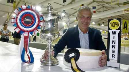 Justin Beckett, Managing Director of Belton Farm, with some of the accolades won