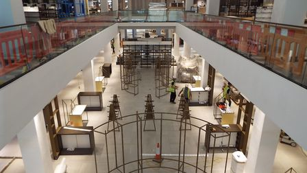 Looking down into the main atrium: Behind the scenes of John Lewis Cheltenham, to be opened October