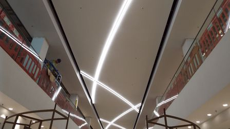 The architecture of the frontage echoed in lighting: Behind the scenes of John Lewis Cheltenham, to