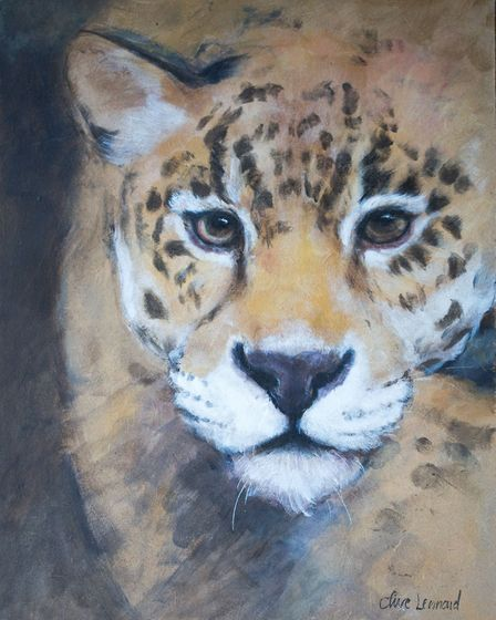 Clive has painted wild cats at the Big Cat Sanctuary in Smarden (photo: Manu Palomeque)