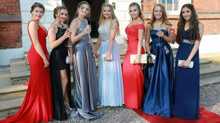 The seven leavers.....Evie Burton-Baddeley, Eve Noguerol, Meghan Clifford, Katie Groves, Grace Whitt