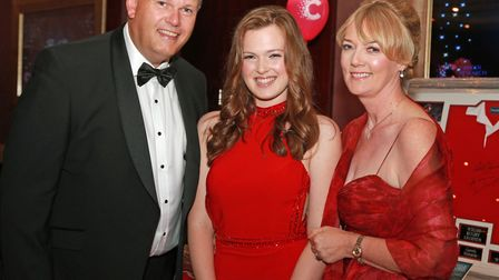Organiser, Lucy-Jane Coulson-Hayhoe (centre) with her mum and dad, Ian Hayhoe and Jayne Coulson
