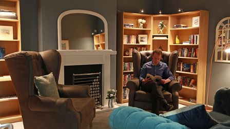 The library at Parkland Place is designed as a quiet retreat