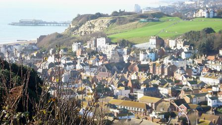 From the East Hill, Hastings. Courtesy of Old Hastings Preservation Society