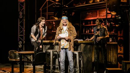 Rock of Ages UK Tour : Kevin Kennedy (Dennis Dupree) with Lonny (Lucas Rush) and Luke Walsh (Drew)