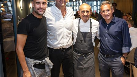 From left: Pep Guardiola, Ferran Soriano, Paco Prez, Txiki Begiristain