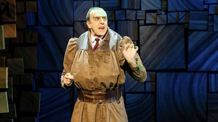 Craige Els as Miss Trunchbull in Matilda the Musical at Manchester Palace Theatre. Picture: Manuel H