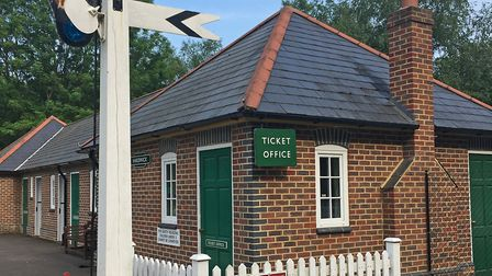 The ticket office at Great Cockrow Railway