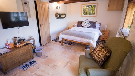 The buildings have been converted into a staggeringly beautiful B&B