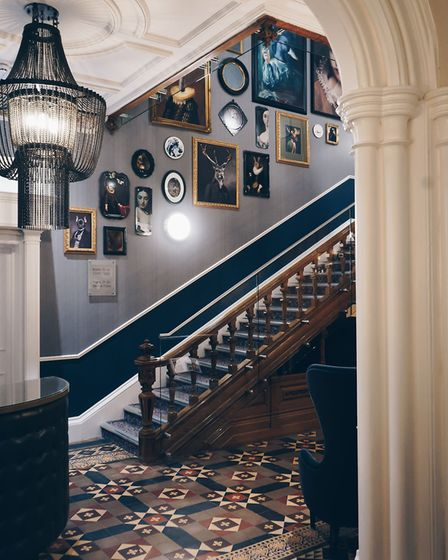 The hallway in Oddfellows on the Park