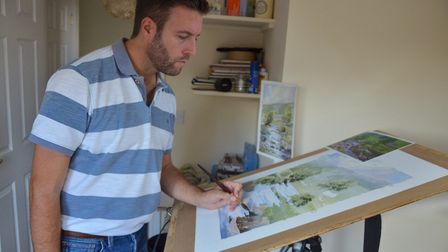 Cuckfield artist Oliver Pyle in his home studio (photo by Oliver Pyle)