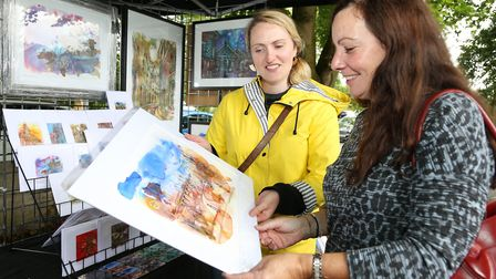 Artist, Kate O'Brien with fellow artist, Lucy Burgess