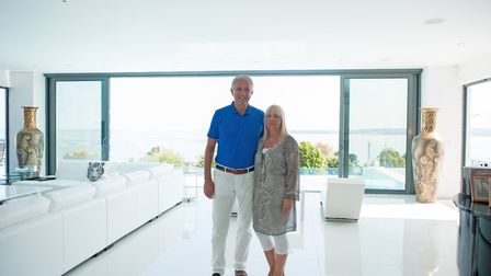 Colin and Lyn get to gaze at one of the best views in Devon from nearly every room in the house