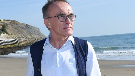 Filmmaker Danny Boyle at Folkestone's Sunny Sands (photo: Tabatha Fireman/Getty Images for 14-18 NOW