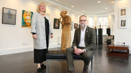 Catherine and Ian Hay of Saul Hay Gallery