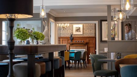 The smart but cosy bar area at 32 The Hollies