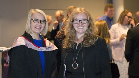 Headmistress Sarah Haslam and WGS Alumna and Neuroscentist Dr Kirstie Whitaker