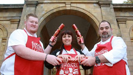 Joe Liptrot of The Cottons Hotel, Connie Oriolo of The Courthouse and Mark Fletcher from The Mere Go